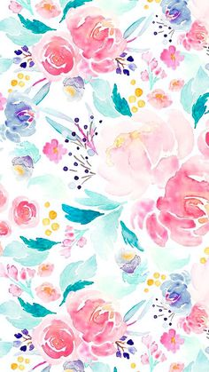 57 Ideas For Flowers Watercolor Wallpaper Print Patterns Frühling Wallpaper, Watercolor Wallpaper, Iphone Background Wallpaper, Watercolor Pattern, Art Background, Flower Wallpaper, Pattern Wallpaper, Watercolor Flowers, Watercolor Illustration