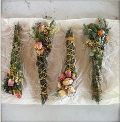 wildflower smudgesticks/botanicals folklorica for beltane fire cleansing and kindling