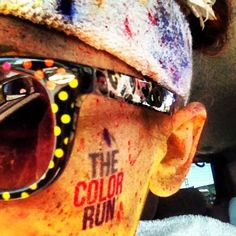 Covered in paint after the Color Run 5k Atlanta