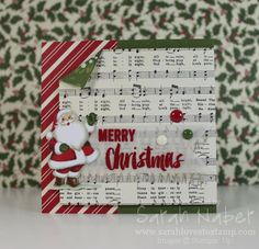 Home for Christmas with Santa | Sarah Loves to Stamp