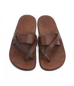 5a1aa2a62d8641 Barbara Shaum handmade sandals Leather Slippers For Men