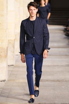 future blue - Hermès Spring 2014 Men's Collection