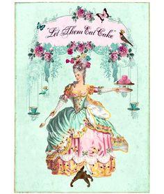 """Marie Antoinette Aceo Print """"Rose de jardin"""". Can't wait for the production next season!"""