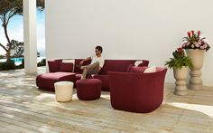 Samba Resin Outdoor Sectional Sofa & Lounge Chair Collection