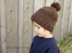 Slouchy Diamond Cap – Free Crochet Pattern!  Includes all sizes Newborn through Adult.