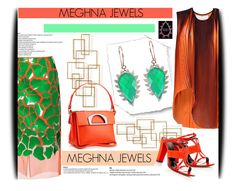 """Meghna Jewels -Claw Collection 12"" by amerlinakasumovic ❤ liked on Polyvore featuring Home Design Studio, Delpozo, STELLA McCARTNEY, Oscar de la Renta, Christian Louboutin, jewelry, timeless, Exotic and borabora"