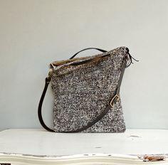 Tote Bag  Custom Length Leather Strap   by MondayMorningStudios, $85.00
