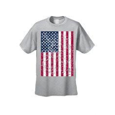 Unisex Freedom American Pride Distressed Flag Short Sleeve T-shirt