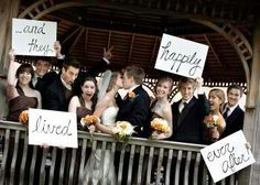 """Cute """"Thank you"""" cards to send to guests: """"...and they lived happily ever after!"""""""