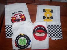 Personalized RACE CAR Baby Set Onesie Bib 2 by theroyalprincess, $42.00