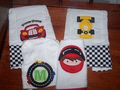 Personalized RACE CAR Baby Set Onesie Bib 2 by theroyalprincess, $42.00