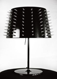 Spiked table lamp