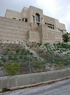 Ennis-Brown House I visited in '93. Amazingly beautiful house. They shot parts of Blade Runner there.