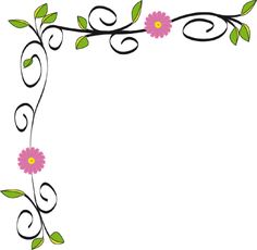 floral borders for word