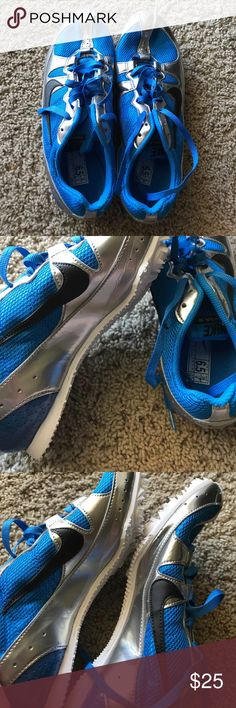 Nike track and field shoes Nike RARE blue and silver track and field pat pending shoes      In perfect condition! Nike Shoes Athletic Shoes