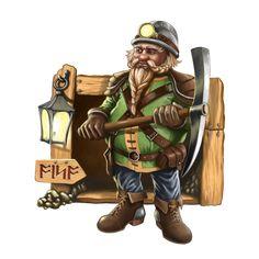 Dwarf-Miner by Werlioka.deviantart.com on @DeviantArt