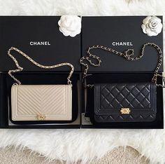 Chanel Boy Wallet on a chain (WOC) More - bags, mochila, bucket, chanel, moda, vintage bag *ad