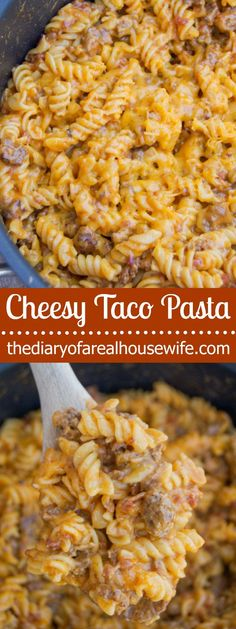 Pin this one! It's amazing and my entire family loved this! Cheesy Taco Pasta this one! It's amazing and my entire family loved this! Yummy Recipes, Pastas Recipes, Mexican Food Recipes, Cooking Recipes, Healthy Recipes, Cheesy Pasta Recipes, Frugal Recipes, Noodle Recipes, Gastronomia