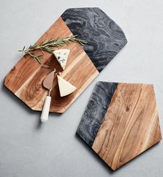 wood and slate boards