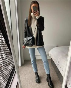 Basic Outfits, Mode Outfits, Cute Casual Outfits, Simple Outfits, Classy Style Outfits, Classy Winter Outfits, Winter Fashion Outfits, Fall Outfits, Inspiration Mode