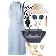Elegant lady by gaojuan on Polyvore featuring Gucci, Manolo Blahnik, CÉLINE, Nixon, Tiffany & Co., Monsoon, Amber Sceats, Swell, Yohji Yamamoto and Dolce&Gabbana