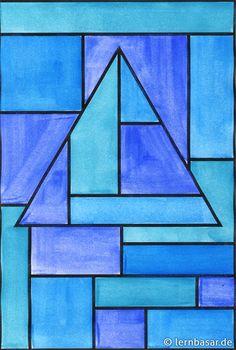 Geometrische Formen, Ton in Ton - tolle Idee für Ihren Kunstunterricht - Startpunkt DE
