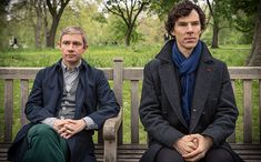 Emmy-winning Sherlock actors Benedict Cumberbatch and Martin Freeman usually play their respective roles of Holmes and Watson with admirably straight faces. But the two stars...