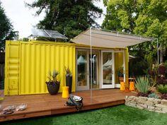 sarı konteyner ev tasarımı