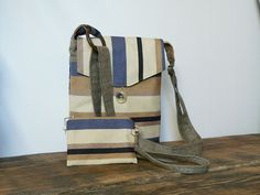 Cross body bag striped small bag and purse mini clutch by SKMODELL, $49.00