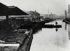 """Caption: """"Scene at the Heinz factory on the Paddington Arm of the Grand Union Canal"""""""