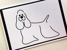 COCKER SPANIEL Greeting Card by SUPATOON on Etsy, $4.00