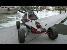 The dune buggy that can fly. SkyRunner is a dune buggy and a power parachute in one
