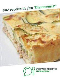 Tarte thon et courgettes par solfea. Une recette de fan à retrouver dans la catégorie Tartes et tourtes salées, pizzas sur www.espace-recettes.fr, de Thermomix<sup>®</sup>.
