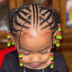 Discover recipes, home ideas, style inspiration and other ideas to try. Kids Cornrow Hairstyles, Toddler Braided Hairstyles, Lil Girl Hairstyles, Black Kids Hairstyles, Curly Hairstyles, Girl Haircuts, Wedding Hairstyles, Natural Hair Braids, Braids For Black Hair