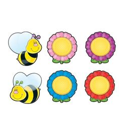 Bees & Flowers Cut-Outs - Carson Dellosa Publishing Education Supplies