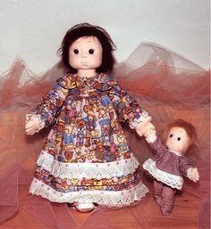 Patrones muñecas de tela en PDF para crear con tus propias manos http://www.dalbauledellanonna.com