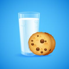 Crear un cristal detallada de la leche y las galletas en Adobe Illustrator
