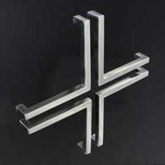 K150 Cabinet door pull, each piece sold separately (four pulls are required to make the pictured arrangement). 10 polished stainless steel $33.00