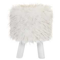Faux Fur Ottoman on Legs | Bouclair.com