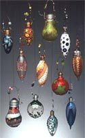Ornaments from old lightbulbs