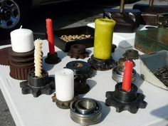 Repurposed Candlestick holders