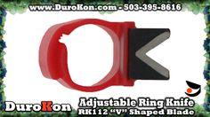 Zenport RK-112 Ring Knife, V Shaped Blade, Adjustable Finger Size, Handy for Harvest and Cutting Twine