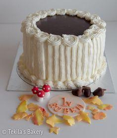 Caramel-chocolate cream cake