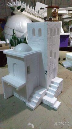 Christmas Nativity Scene, Scale, Diy, Home Decor, Christmas Clay, Christmas Crafts, Creative, Creativity, Cardboard Houses