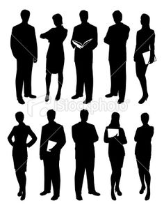 Business People Silhouettes Royalty Free Stock Vector Art Illustration