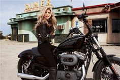 car, women motorcycle riders, harley motorcycles women, girl, biker chick, harley davidson motorcycles, marisa miller, harleydavidson, diner