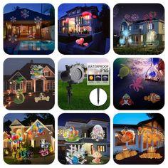 LAFALA Holiday LED Lights Projector - 8 Patterns of the 16.[ASIN:B074QKGNBK ]