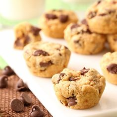 Peanut Butter Chocolate Chip Cookie Bites - perfect for snacking and for parties