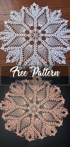 Pineapple Doily – Free Pattern Learn the fact (generic term) of how to needlework (generic term), st Vintage Crochet Doily Pattern, Free Crochet Doily Patterns, Crochet Dollies, Crochet Motif, Free Pattern, Diy Crochet Doilies, Crochet Dreamcatcher Pattern Free, Crochet Sunflower, Pineapple Crochet