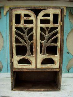 Wall Cabinet Handmade Oak Tree  Woodland Shelf by honeystreasures, $130.00 - Would be like living in a fairytale house...